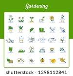 gardening icons set   garden... | Shutterstock .eps vector #1298112841