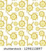 marine and chain pattern | Shutterstock . vector #1298113897