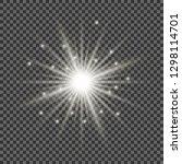 light effect glow. star flashed ... | Shutterstock .eps vector #1298114701