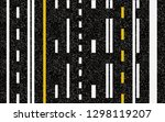 lines and lane markings on the... | Shutterstock .eps vector #1298119207