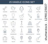 25 handle icons. trendy handle... | Shutterstock .eps vector #1298125837