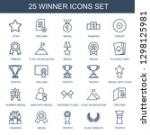 winner icons. trendy 25 winner... | Shutterstock .eps vector #1298125981