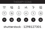 therapy icons set. collection... | Shutterstock .eps vector #1298127301