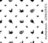roast icons pattern seamless... | Shutterstock .eps vector #1298129371