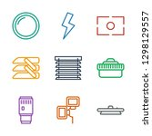 shutter icons. trendy 9 shutter ... | Shutterstock .eps vector #1298129557