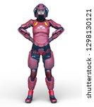3d cg rendering of cyborg woman | Shutterstock . vector #1298130121