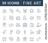 set of vector line icons of...   Shutterstock .eps vector #1298130364