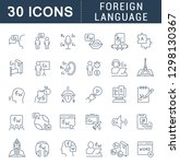 set of vector line icons of... | Shutterstock .eps vector #1298130367
