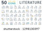 set of vector line icons of... | Shutterstock .eps vector #1298130397