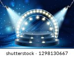 colorful illuminated podium for ... | Shutterstock .eps vector #1298130667