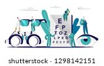 ophthalmologist doctor check... | Shutterstock .eps vector #1298142151