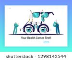 ophthalmologist doctor analysis ... | Shutterstock .eps vector #1298142544