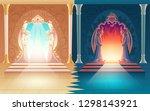 vector illustration with heaven ...   Shutterstock .eps vector #1298143921