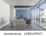 modern office interior with... | Shutterstock . vector #1298149927