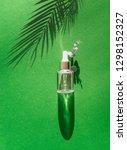 transparent cosmetic bottle... | Shutterstock . vector #1298152327