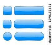 blue glass buttons. web 3d... | Shutterstock .eps vector #1298158681