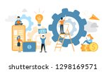 system building illustration.... | Shutterstock . vector #1298169571