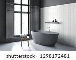 corner of bathroom with gray... | Shutterstock . vector #1298172481