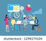 online support  internet... | Shutterstock .eps vector #1298174104