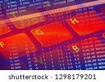 computer keyboard. small depth... | Shutterstock . vector #1298179201