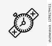 compass concept line icon....