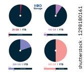 hard disk drive storage concept ... | Shutterstock .eps vector #1298180161