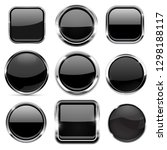 glass 3d buttons set. black... | Shutterstock . vector #1298188117