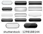 white and black glass 3d... | Shutterstock . vector #1298188144