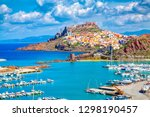 Castelsardo town and port in Sardinia, Province of Sassari, Italy. Beaches and villas in Sardinia.