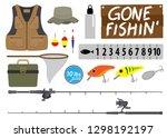 Fishing Icon Set. Equipment...
