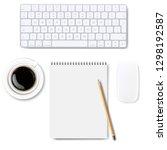 computer keyboard big set... | Shutterstock .eps vector #1298192587