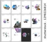 minimal brochure templates with ... | Shutterstock .eps vector #1298226814