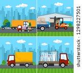 set of transport   logistics... | Shutterstock .eps vector #1298227501