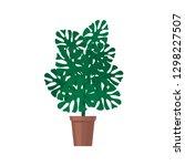 monstera houseplant  green... | Shutterstock .eps vector #1298227507