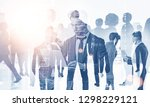 team of diverse managers... | Shutterstock . vector #1298229121