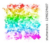 watercolor square pattern... | Shutterstock . vector #1298229607