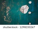 rusty metal corrugated metal... | Shutterstock . vector #1298233267