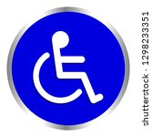 disabled signs blue colors... | Shutterstock .eps vector #1298233351