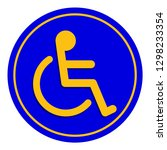 disabled signs blue colors... | Shutterstock .eps vector #1298233354