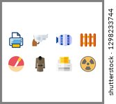 8 machine icon. vector... | Shutterstock .eps vector #1298233744