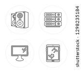 4 line speakers  television ... | Shutterstock .eps vector #1298235184