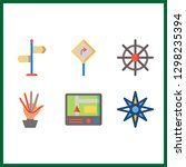 6 direction icon. vector... | Shutterstock .eps vector #1298235394