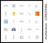 25 switch icon. vector... | Shutterstock .eps vector #1298235481