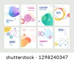 set of brochure  annual report  ... | Shutterstock .eps vector #1298240347