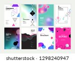set of brochure  annual report  ... | Shutterstock .eps vector #1298240947
