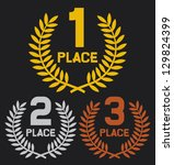 first  second and third place ... | Shutterstock .eps vector #129824399