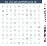 decoration icons. trendy 100... | Shutterstock .eps vector #1298247544