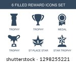 reward icons. trendy 6 reward... | Shutterstock .eps vector #1298255221