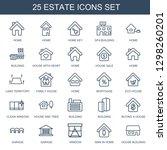 estate icons. trendy 25 estate... | Shutterstock .eps vector #1298260201