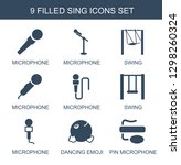sing icons. trendy 9 sing icons.... | Shutterstock .eps vector #1298260324